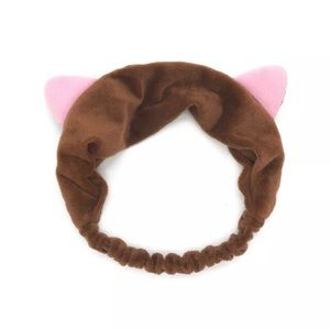 ADORABLE KITTY CAT EARS FAUX VELVET HEADBAND